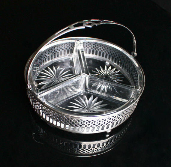 Antique Sterling Silver Candy Dish Art From Maejean Vintage