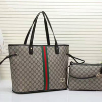"""Gucci"" women shopping shoulder bag female inclined shoulder bag brown two piece G-LLBPFSH"