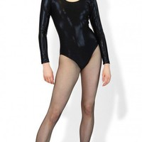Metallic Leotard | Long Sleeved Leotard | Metallic Dancewear