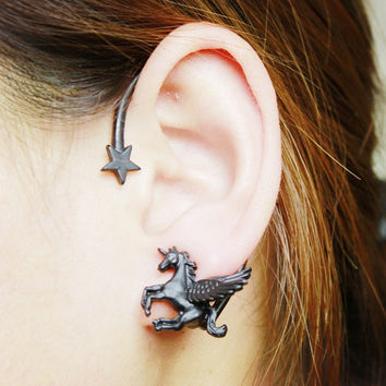 Korean Soft Unicorn Earrings [8026074631]
