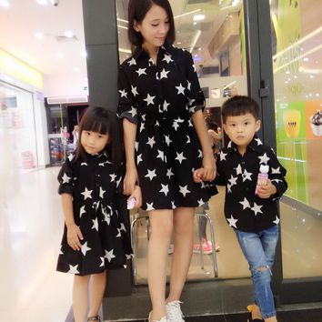2018 springstyle mother daughter dresses family look clothing Family Mother Daughter Matching Girl Women Floral Dress Clothes