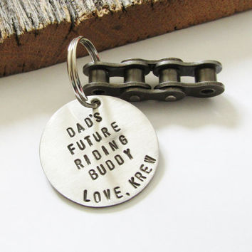 Motorcycle Gift Motorcycle Keychain Brother Christmas Gift Dad from Baby Dirt Biker Gift Husband Motorcycle Charm Rocker Dude Lets Ride Mens