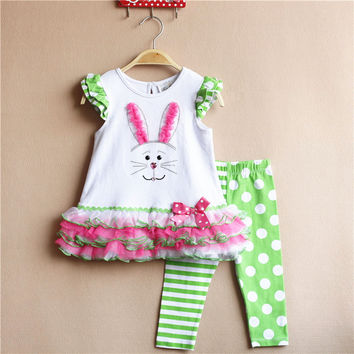 boutique east outfits girl clothing set easter kids outfits baby girl sleeveless cotton clothing set