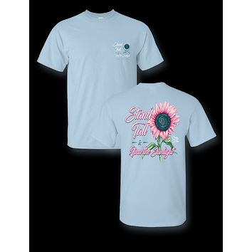 Sassy Frass Stand Tall & Find the Sunlight Sunflower Comfort Colors Bright T Shirt