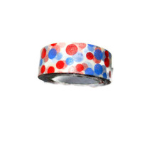 Red and Blue Polka Dot Washi Tape