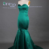 Sexy Emerald Green Sweetheart Mermaid Long Prom Dress/Fish Tail Mermaid Evening Dress/Party Dress/Reception Dress DH272