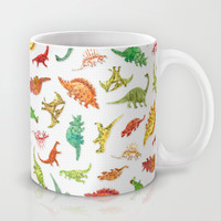 Dinosaur Party Pattern Mug by Marie Gardeski