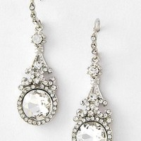 Rhinestone Drop Earrings-Vintage Style Earrings
