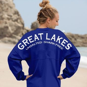 Great Lakes Unsalted · Shark Free - Classic Spirit Football Jersey®