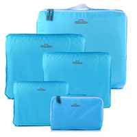 5 Piece Set BLUE Travelling/Packing Cubes Vacation Organization Luggage Baggage