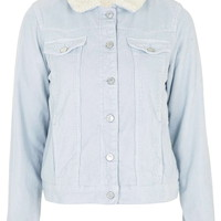 MOTO Blue Cord Borg Western Jacket - Topshop