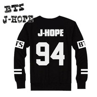 BTS K-POP Idol Bangtan Boys Pullover Sweatshirt Tops Fleece J-HOPE [8833910988]