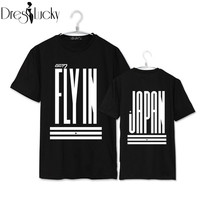 GOT7 2016 summer fashion t shirt korean short sleeve couple clothes casual t-shirts women harajuku plus size letters print tops