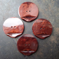 Large Plastic Buttons,1950s Large Plastic Buttons,Bakelite Plastic Buttons,Bakelite  Buttons,Brown Bakelite  Buttons
