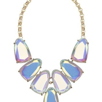 Harlow Statement Necklace in Clear Iridescent - Kendra Scott Jewelry