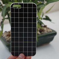 White/Black Grid Tumblr IPhone 4S/5S Case