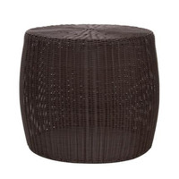 Household Essentials Resin Wicker Side Table