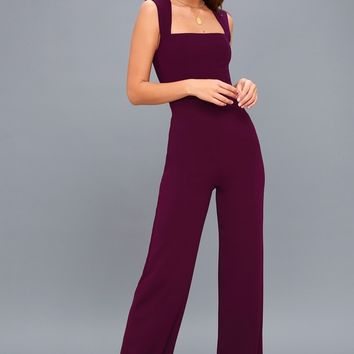 Enticing Endeavors Plum Purple Jumpsuit