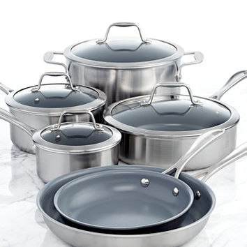 Zwilling J.A. Henckels Spirit Ceramic Nonstick 10-Pc. Cookware Set | macys.com