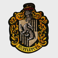 Hufflepuff Embroidered Crest Patch