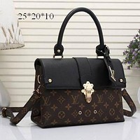 Day-First™ LV Louis Vuitton Women Shopping Bag Leather Satchel Shoulder Bag Crossbody