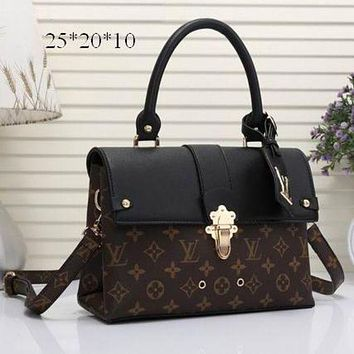 One-nice™ LV Louis Vuitton Women Shopping Bag Leather Satchel Shoulder Bag Crossbody