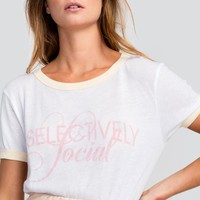 Selectively Social Vintage Ringer Tee