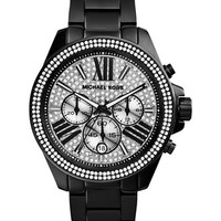 Michael Kors Women's Chronograph Wren Black Ion-Plated Stainless Steel Bracelet Watch 42mm MK6059