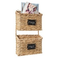 Smith & Hawken™ Woven Wall Organizer with 2 Baskets and Chalkboard Labels