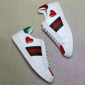 GUCCI Woman Fashion Heart-Shaped Flats Shoes Sneakers Sport Shoes G-CSXYQGCZDL-CY