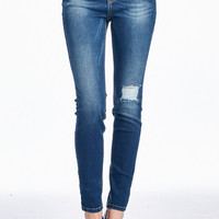 High Rise Distressed Stretchy Skinny Jean