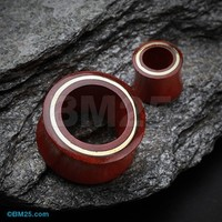 The Gold Disc Blood Wood Organic Ear Gauge Tunnel Plug