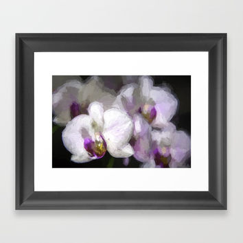 Orchids Framed Art Print by carmenrayanderson