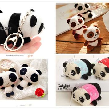 New Small 4-10cm Panda Key chain Pendant Plush Toys , Quality Baby Plush Toys Hot Gift Plush Stuffed Panda Plush Toys