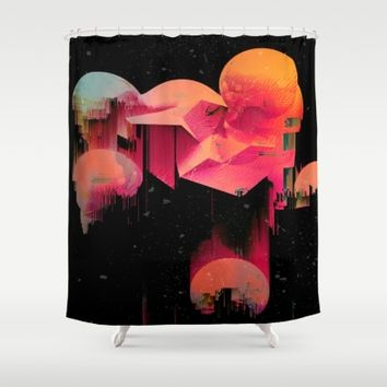 Beat Drop Shower Curtain by Ducky B