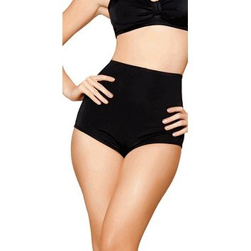 Sexy Black High Waist Vintage Pin Up Bikini Bottoms