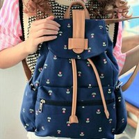 Cute Canvas School Backpack with Anchor JVB740 from topsales