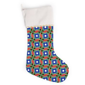 "Bruce Stanfield ""South Africa"" Multicolor Christmas Stocking"