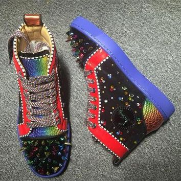 Cl Christian Louboutin Pik Pik Style #1980 Sneakers Fashion Shoes - Best Online Sale