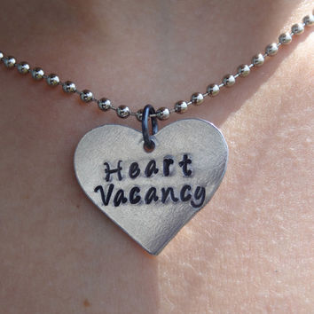 """The Wanted """"Heart Vacancy"""" Hand Stamped Necklace"""