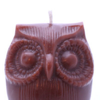 Afred The Owl Brown Scented Candle by cherrybcandles on Etsy