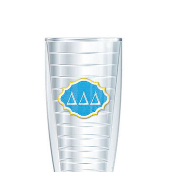 Delta Delta Delta Tumbler -- Customize with your monogram or name!