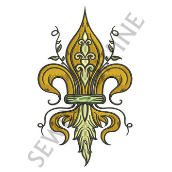 FLEUR de lis Machine EMBROIDERY DESIGN 4x4 5x7 6x10 Instant Download 8 Formats Victorian Decorative