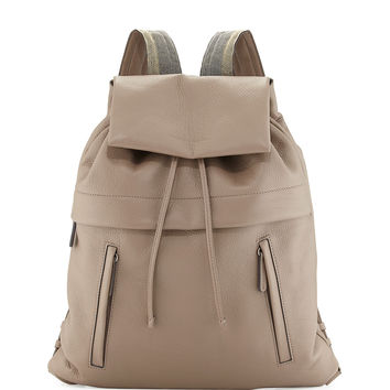 Calfskin Backpack w/Monili Straps - Brunello Cucinelli