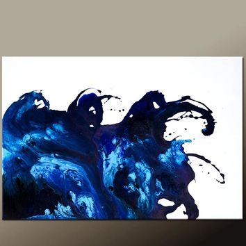 36x24 Abstract Canvas Art Contemporary Painting by Destiny Womack - dWo - Emotion
