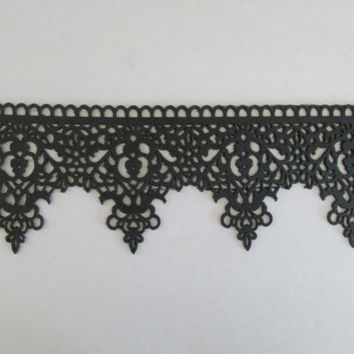 edible sugar  antique cake lace wedding bridal black white elegant