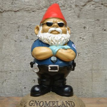 Gnomeland Security Garden Gnome