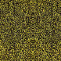 Faux gold and black swirls doodles Fabric Fabric