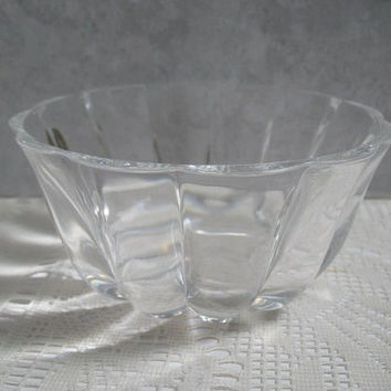 Vintage Crystal Bowl, RCR Italian Crystal Candy Dish Home Decor Royal Crystal Rock 24% Lead Crystal