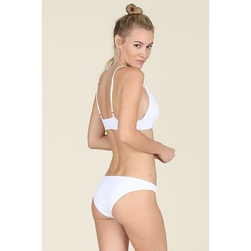 Tori Praver Swimwear - Isla Bottom | White